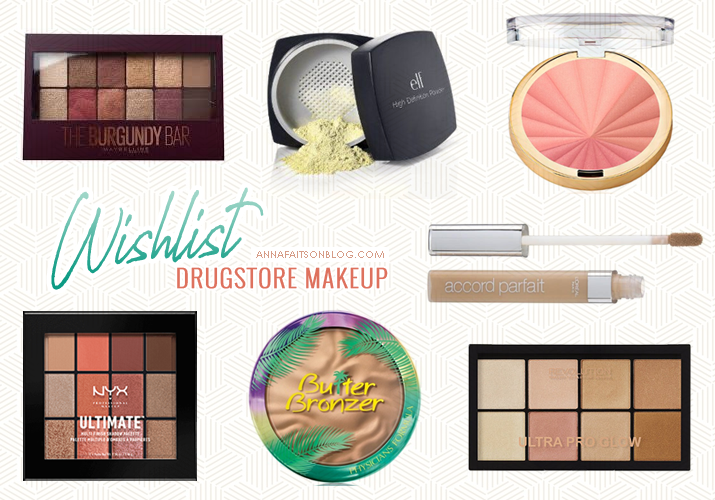 Wishlist Drugstore Makeup