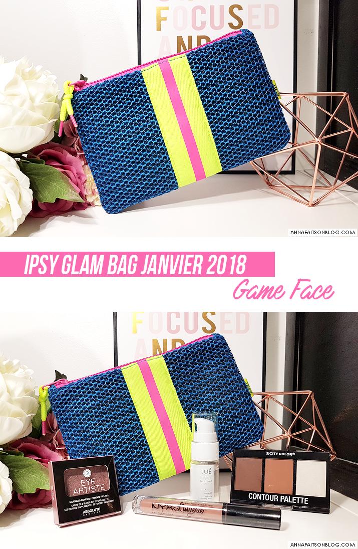 Ipsy Glam Bag Janvier 2018