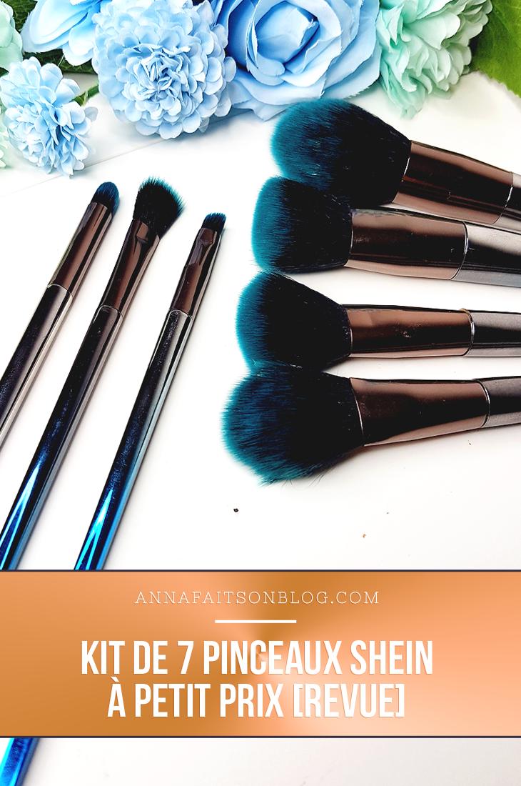 Kit de pinceaux de SheIn #brushset #makeupbrush