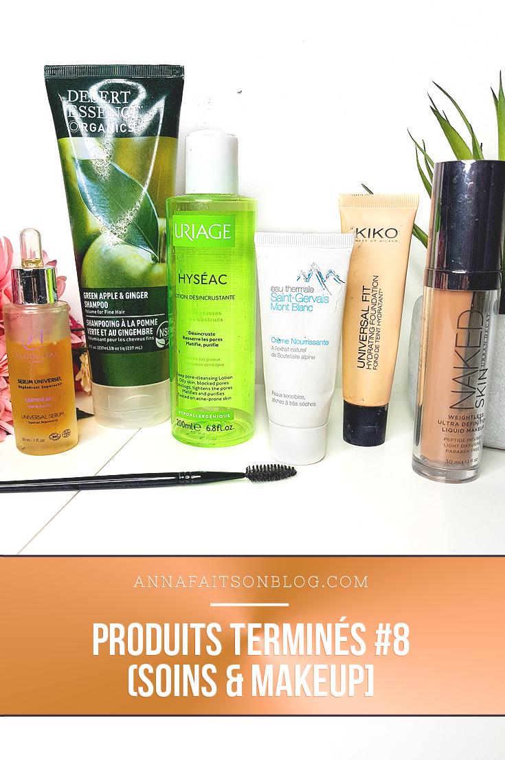 Produits terminés : soins & makeup