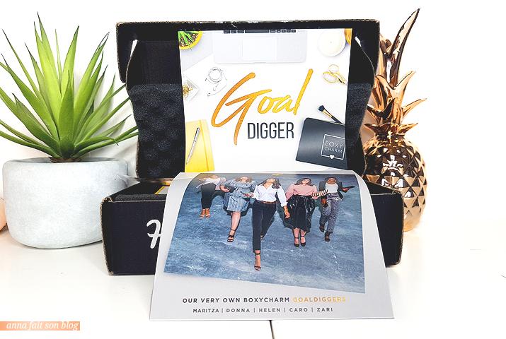 Boxycharm Novembre 2018 : Goal Digger