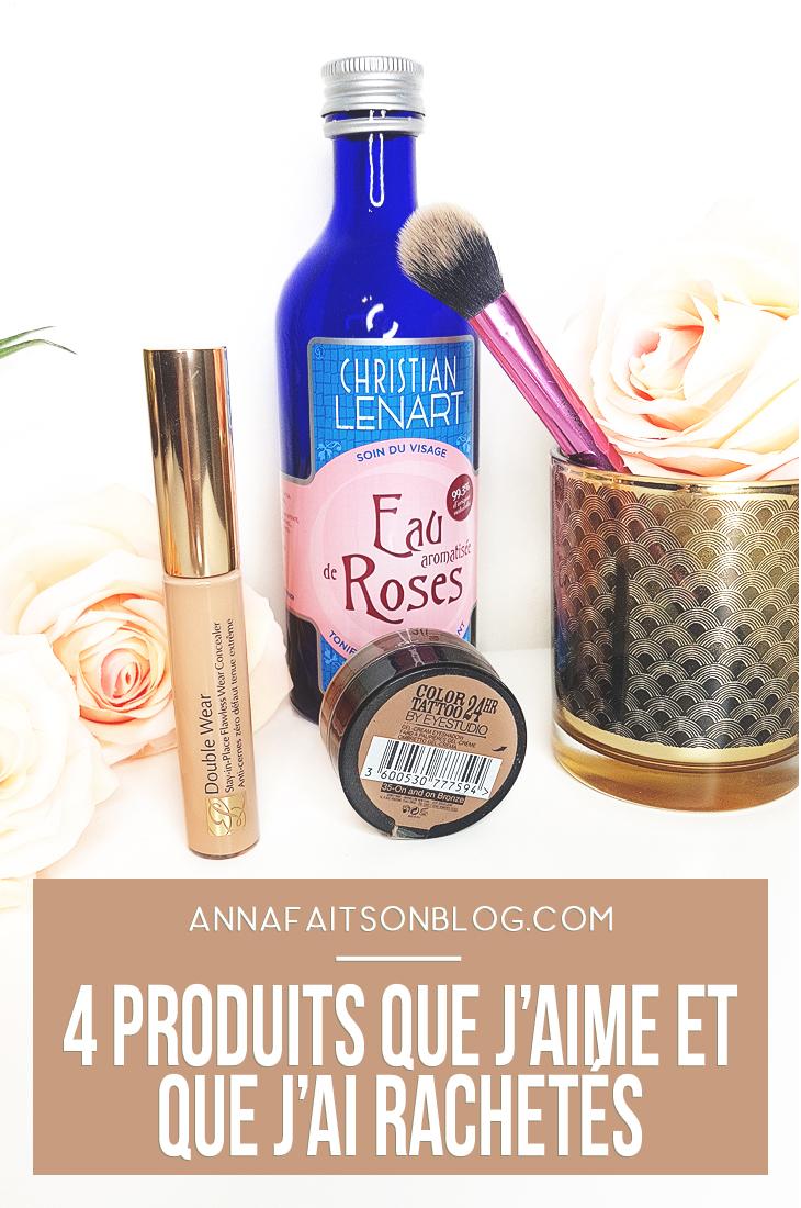 4 produits favoris que j'ai déjà rachetés [Estée Lauder, Maybelline...]