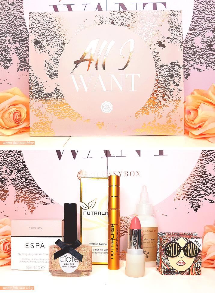 Glossybox Noel 2018 : All I Want
