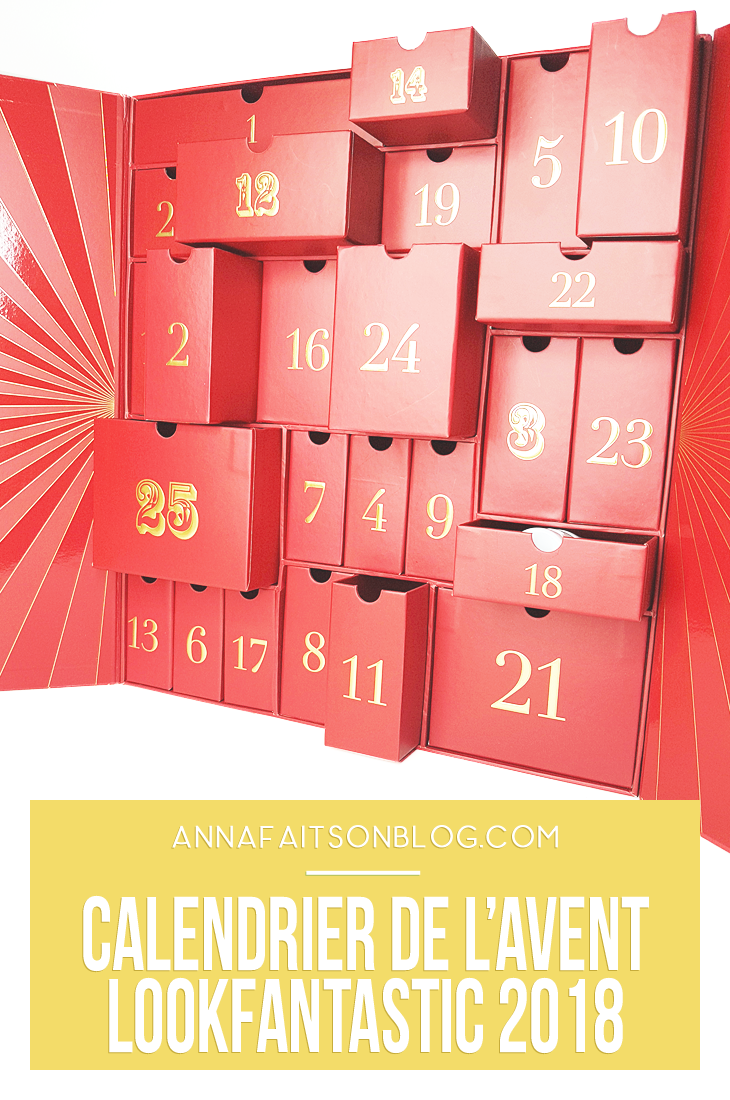 Calendrier Lookfantastic 2018 #adventcalendar #lookfantastic