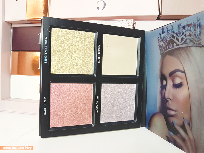 Calendrier Glossybox 2018 : Huda Beauty Winter Solstice Highlighter Palette