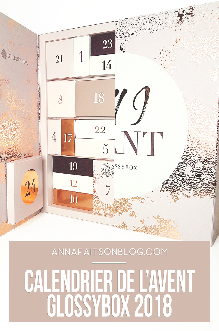 Calendrier Glossybox 2018 #beautyblog #beautyreview