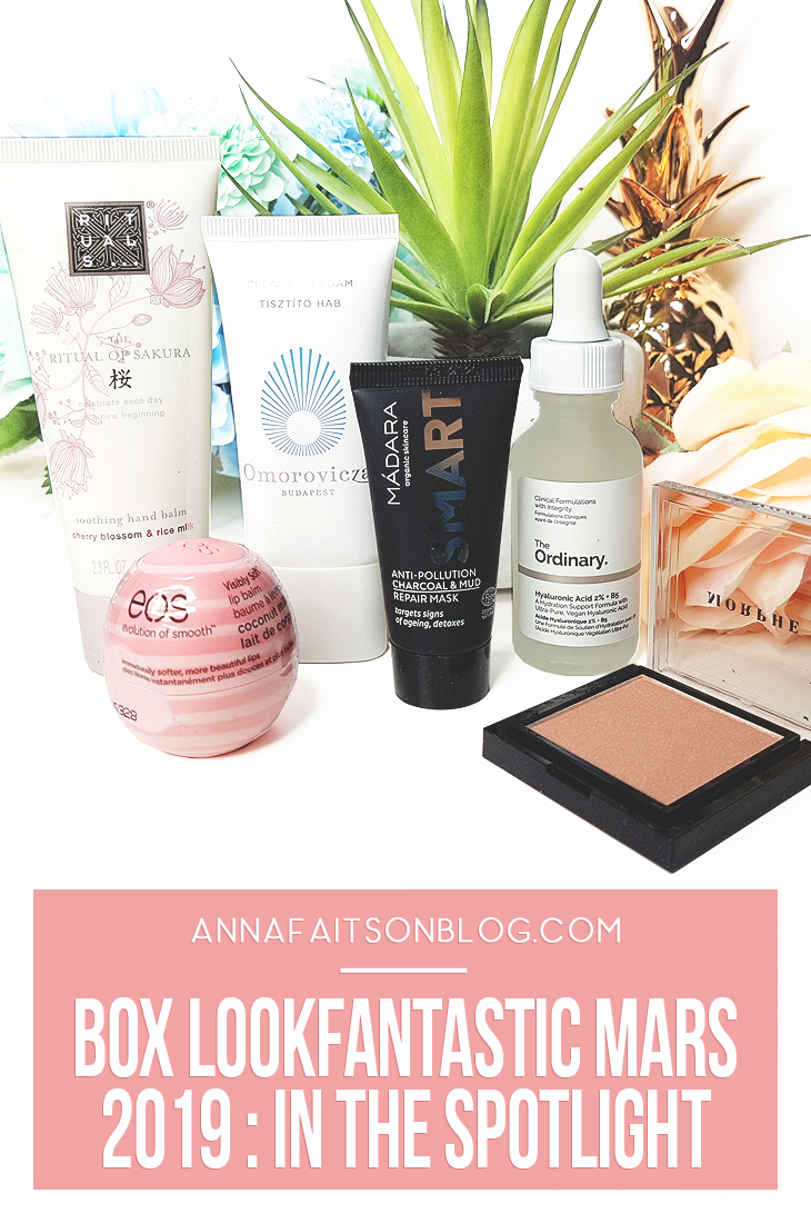 Box Lookfantastic Mars 2019 #beautybox