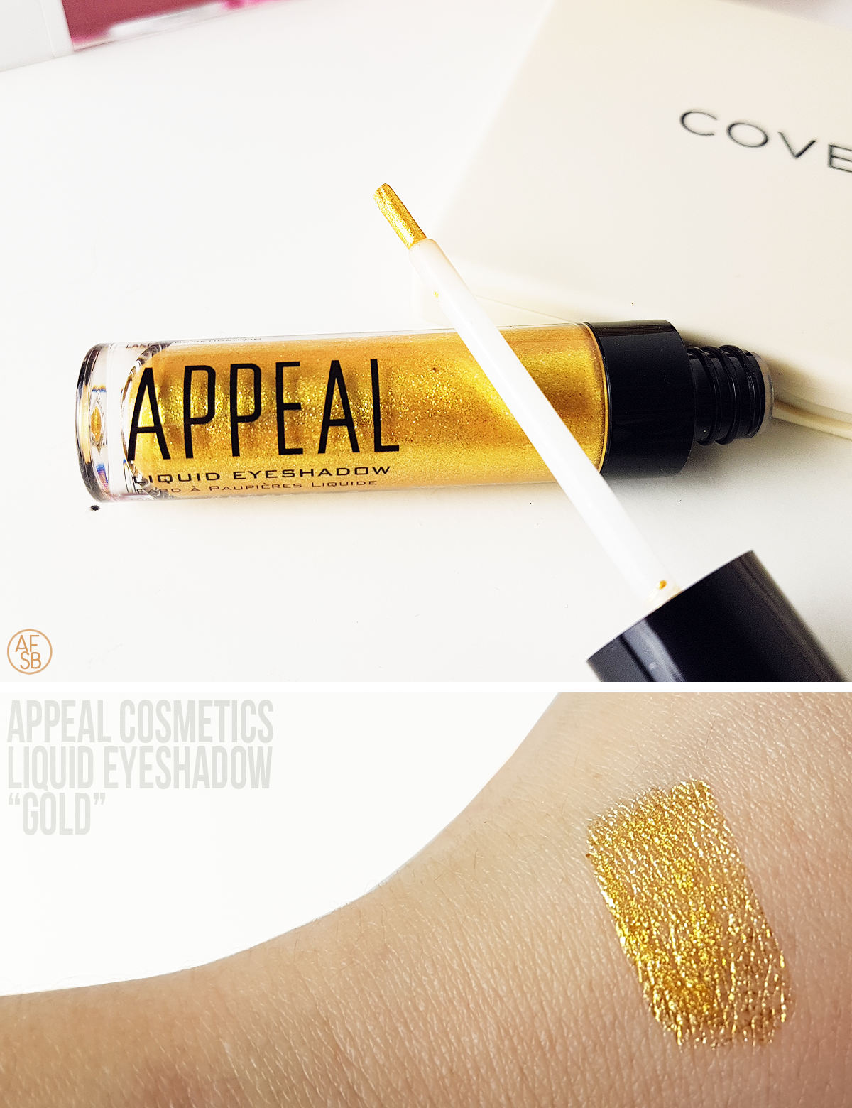Appeal Cosmetics - Liquid Eyeshadow in Gold #beautybox