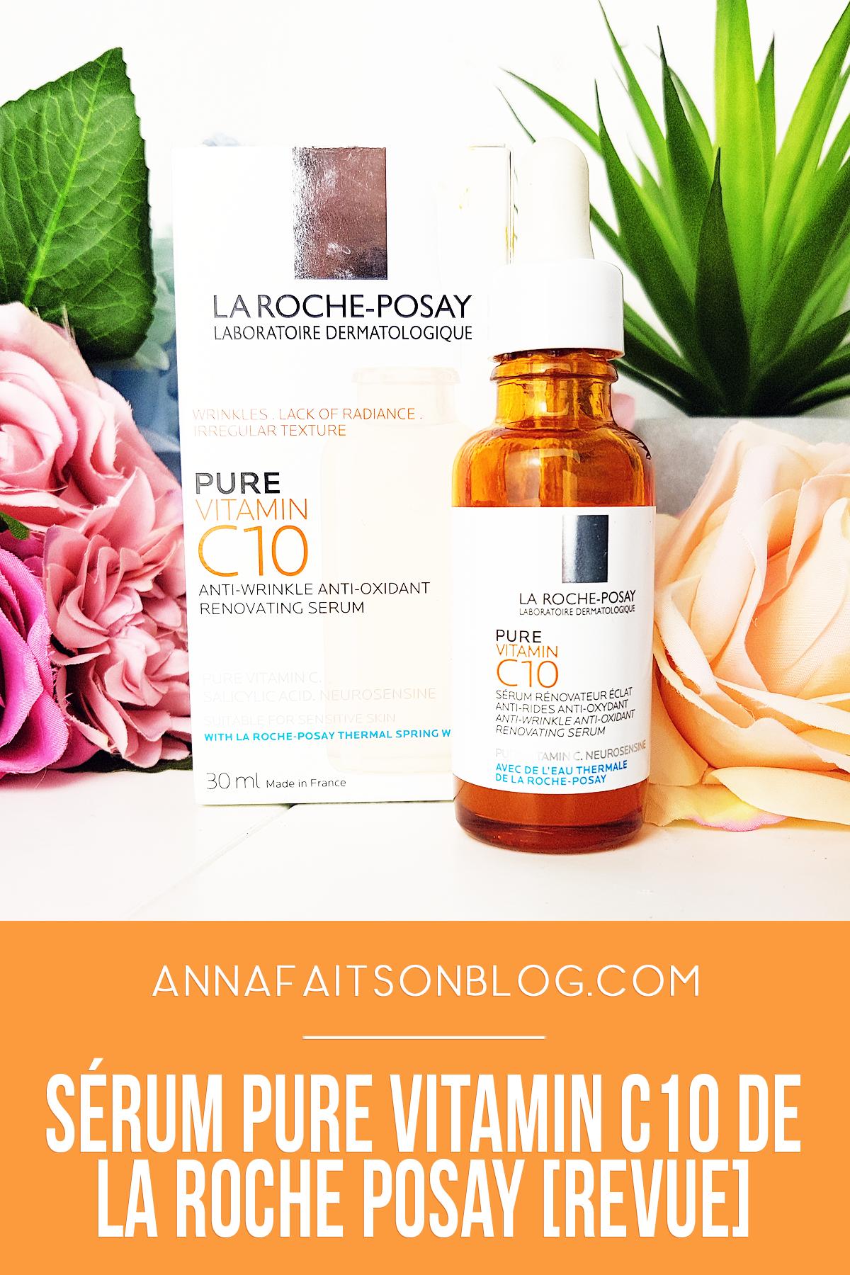 Sérum Pure Vitamin C10 de La Roche Posay #skincare