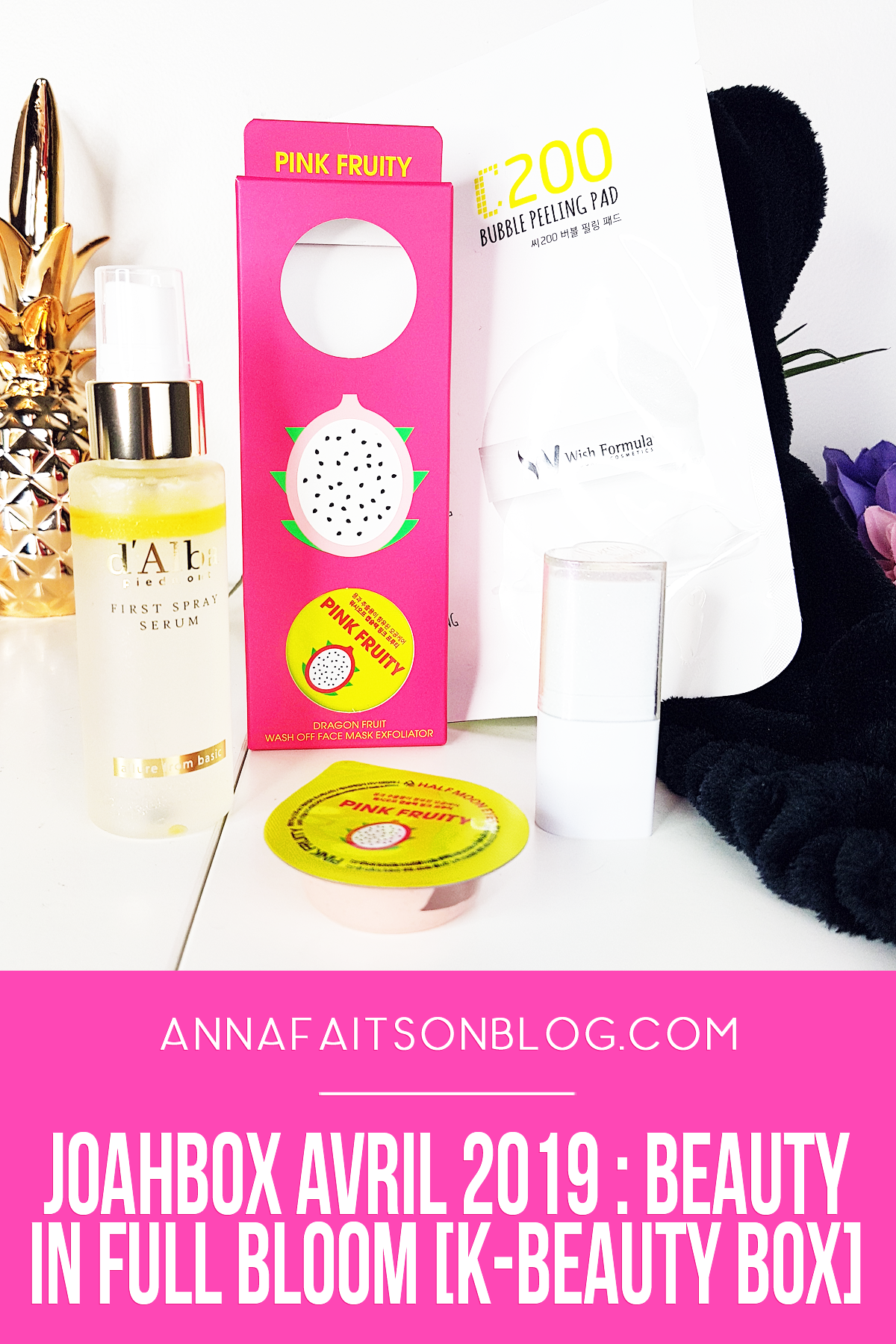 Joahbox Avril 2019 #beautybox #kbeauty