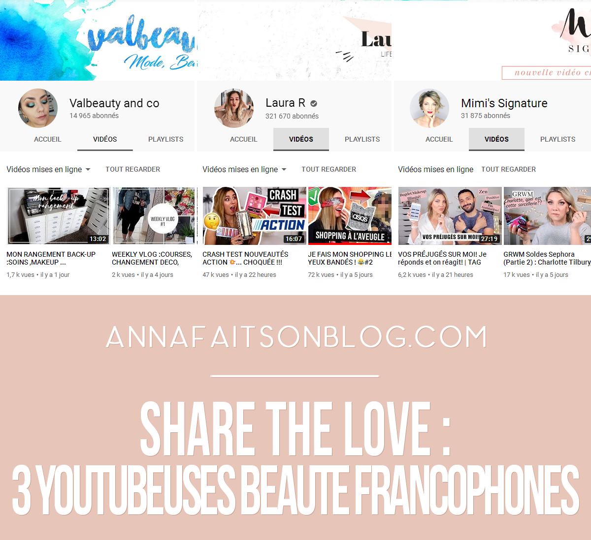Share the love : 3 youtubeuses beauté francophones