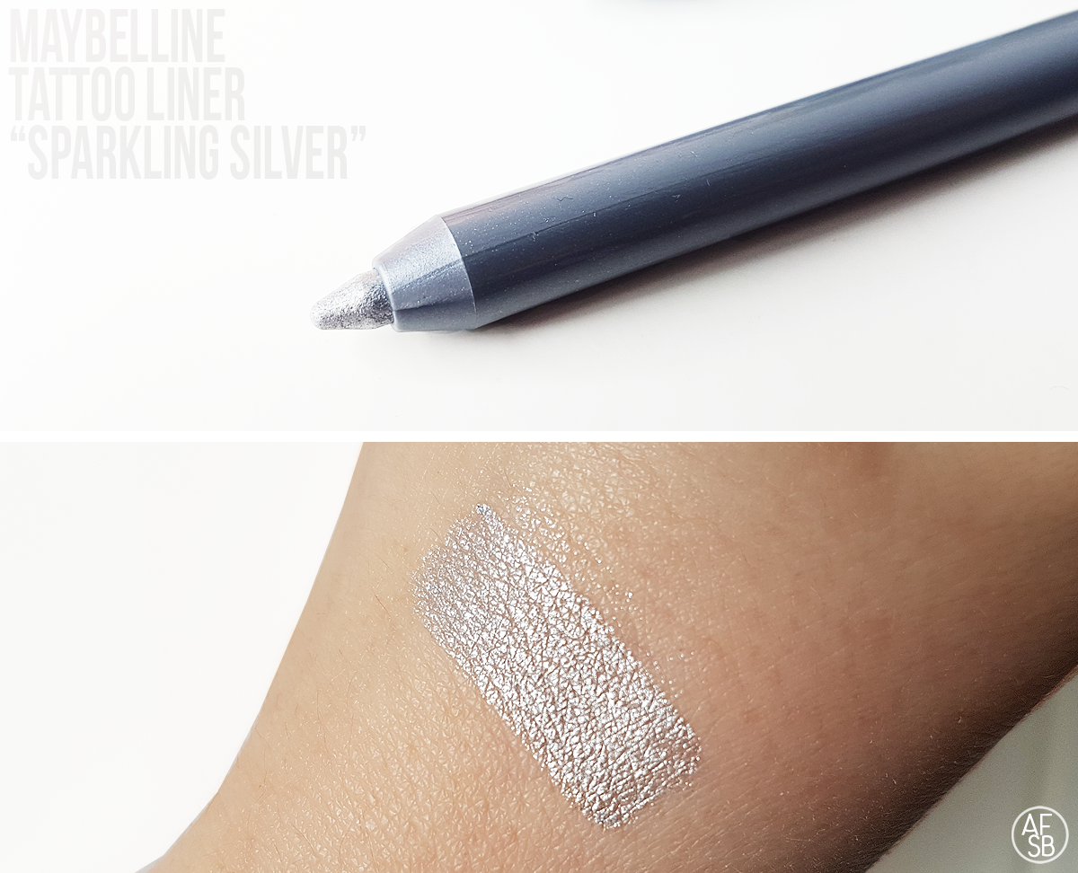 Tattoo Liner de Maybelline in Sparkling Silver #eyepencil #eyemakeup