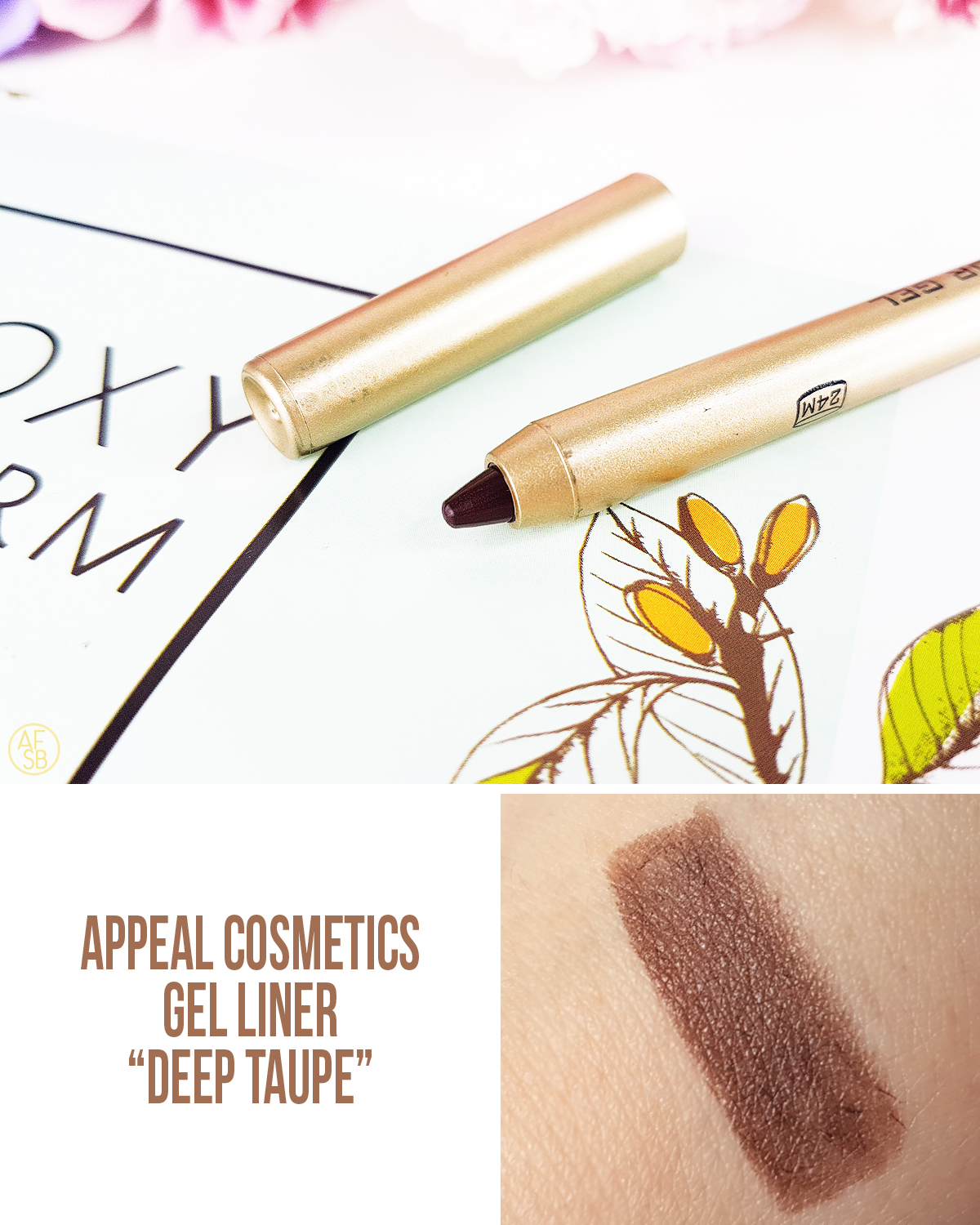 Boxycharm Juillet 2019 : Appeal - Gel Liner in Deep Taupe #beautybox
