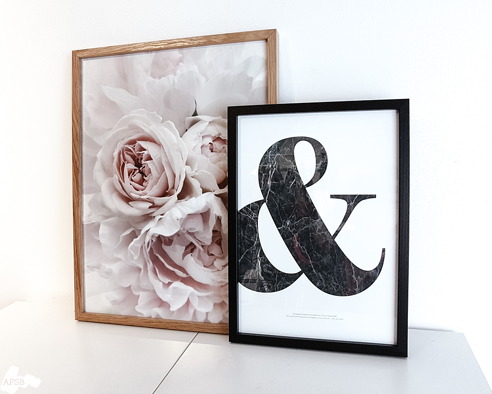 Poster Store - Affiches Pink flowers & Ampersand & Marble