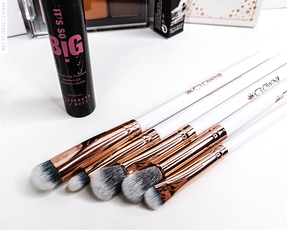 Boxycharm Premium Décembre 2020 : Crown Brush - All Eyes On You Luxe Brush Set