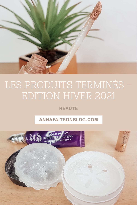 Produits terminés - Édition Hiver 2021