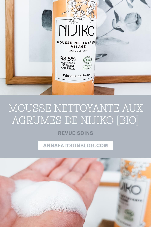 Mousse nettoyante Nijiko aux agrumes (bio)