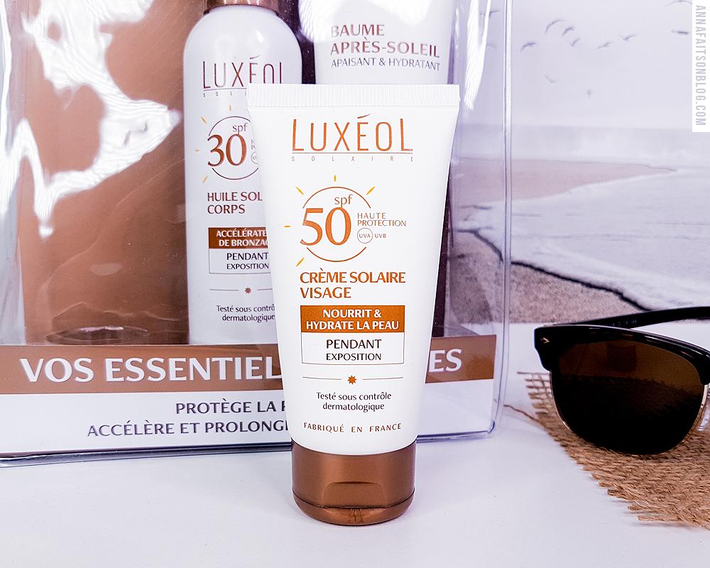 Crème solaire visage SPF50 Luxeol